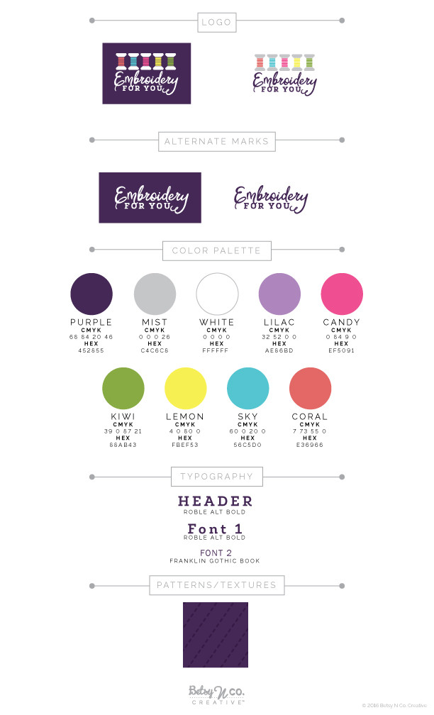 Embroidery For You Style Guide