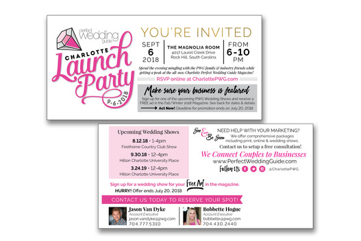Launch Party Postcard Mailer