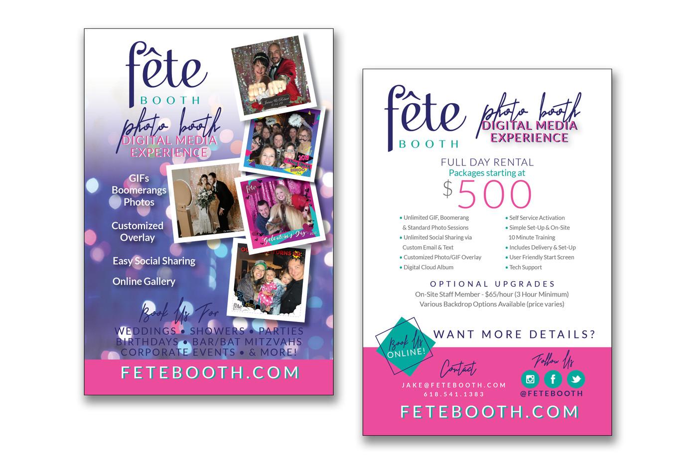 Fete Booth Postcard Handout