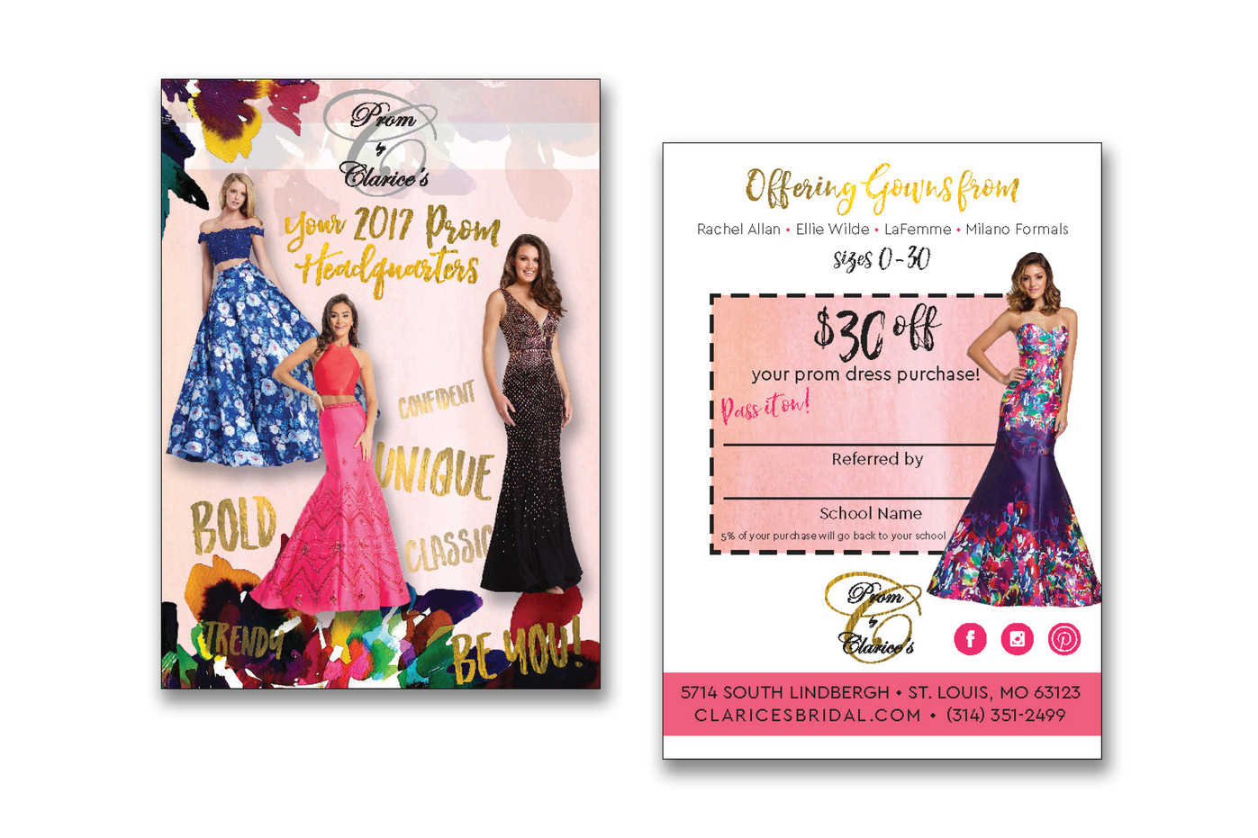 Prom Dress Postcard Handout