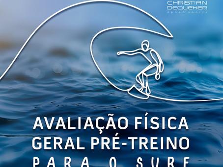 Avaliação física geral pré treino para o Surf