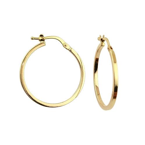 23mm | 9ct Gold Hoop Earrings 'Mariah'