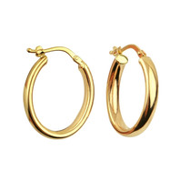 Oval Gold Hoops