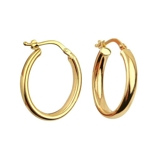 22mm | 9ct Gold Hoop Earrings 'Daenerys'