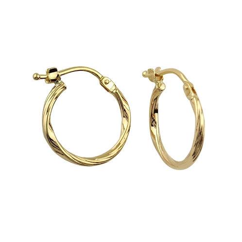 15mm   9ct Gold Hoop Earrings 'Dorna'