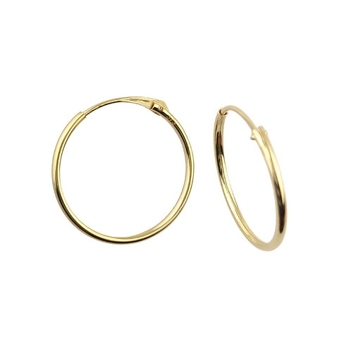 13mm | Classic Gold Hoop Earrings 'Ayla'