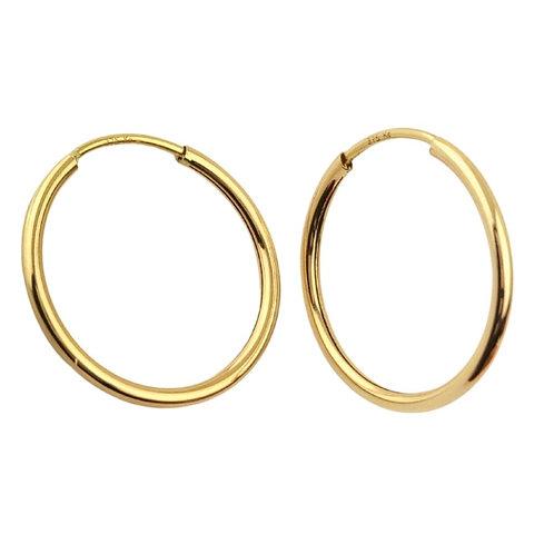 34mm   9ct Classic Hoop Earrings 'Coco II'
