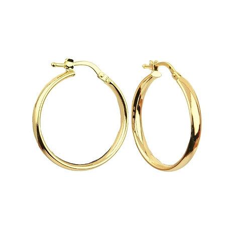 23mm | 9ct Gold Hoop Earrings 'Melian'