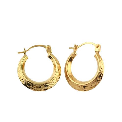 14mm | 9ct Gold Hoop Earrings 'Leia'