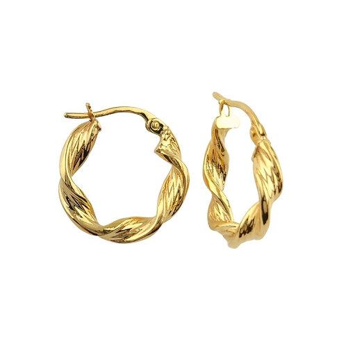 16mm   9ct Gold Hoop Earrings 'Astrid'