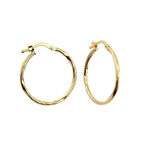 23mm | 9ct Gold Hoop Earrings 'Arianne'