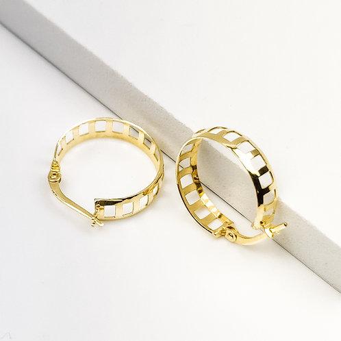 19mm | 9ct Gold Hoop Earrings 'Lagertha'