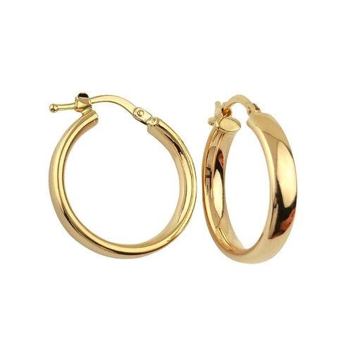 18mm | 9ct Gold Hoop Earrings 'Sansa'