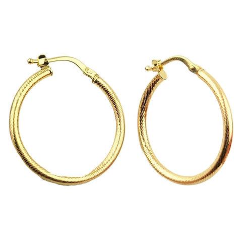 24mm | 9ct Gold Hoop Earrings 'Tauriel'