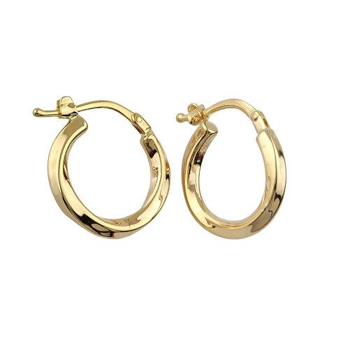 14mm   9ct Gold Hoop Earrings 'Obella'