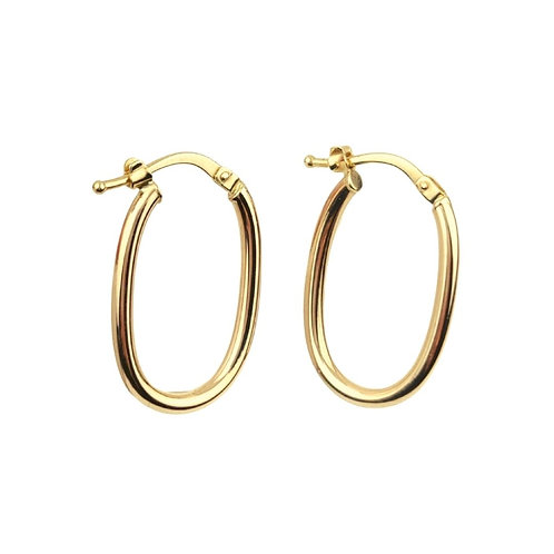 23mm | 9ct Hoop Earrings 'Yara'