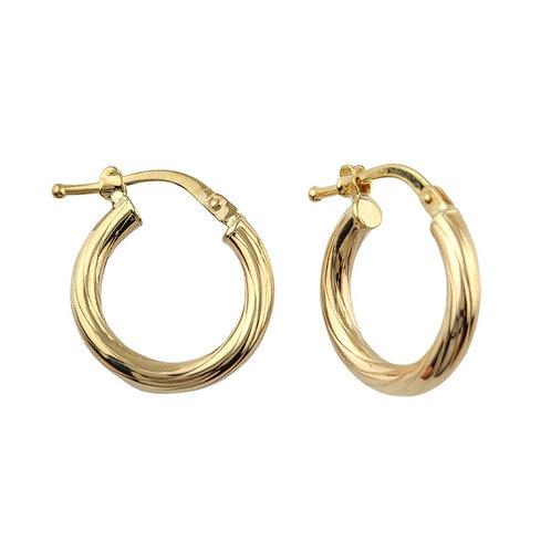 14mm | 9ct Gold Hoop Earrings 'Elia'