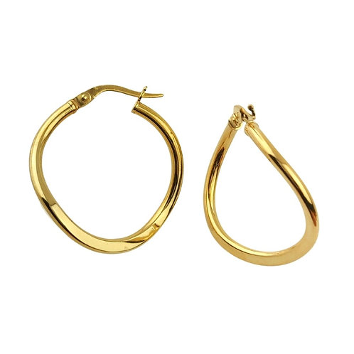 25mm | 9ct Gold Hoop Earrings 'Rey'