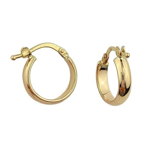 14mm | 9ct Gold Hoop Earrings 'Dawn'