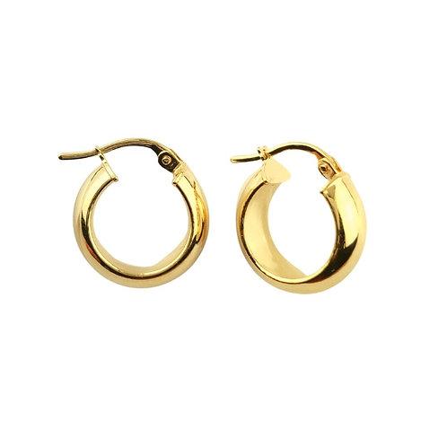 20mm | 9ct Chunky Gold Hoop Earrings 'Zoe'