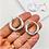 Thumbnail: 24mm | Silver Super Chunky Hoop Earrings 'Pluma'