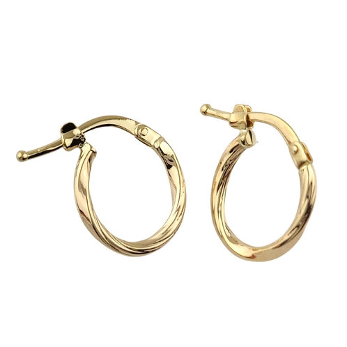 14mm | 9ct Gold Hoop Earrings 'Arya'
