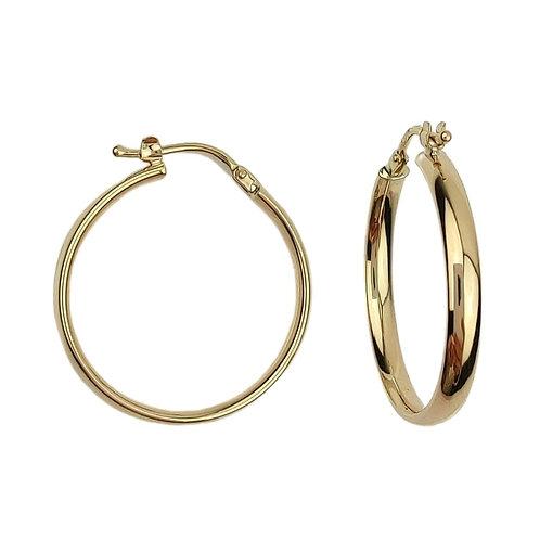 23mm | 9ct Gold Hoop Earrings 'Cersei'