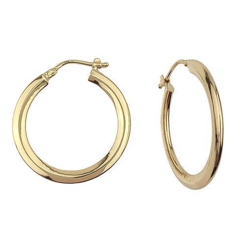 25mm | 9ct Gold Hoop Earrings 'Prue'