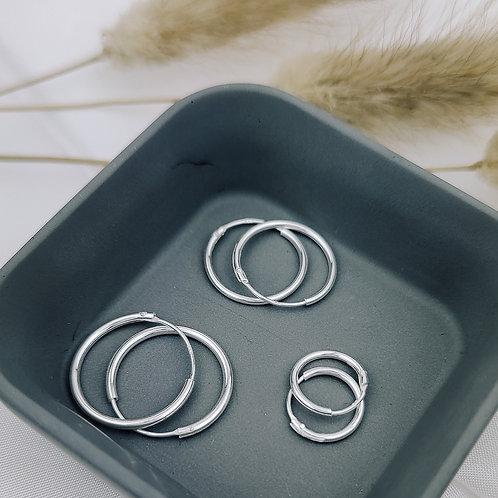 11mm | Classic Silver Hoop Earrings 'Aya'