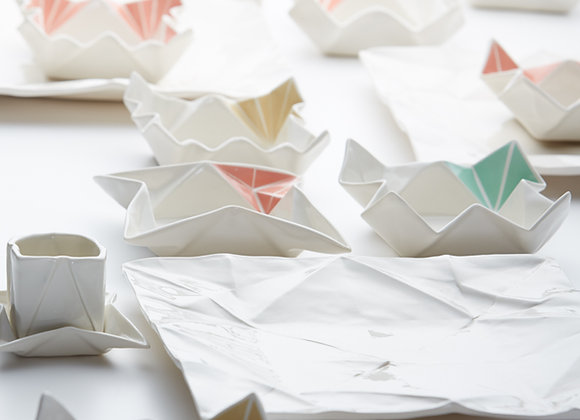 Origami Geschirr farbig