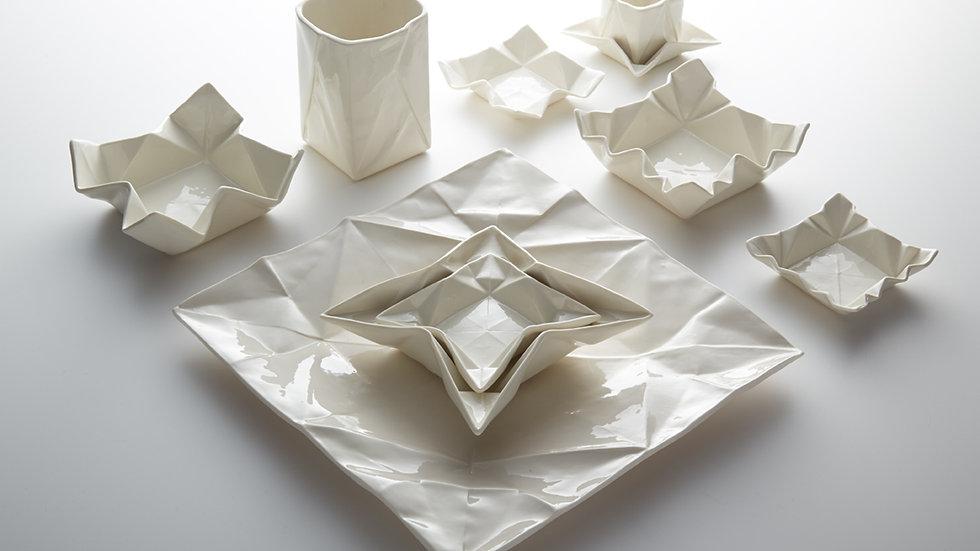 Origamigeschirrserie Natur