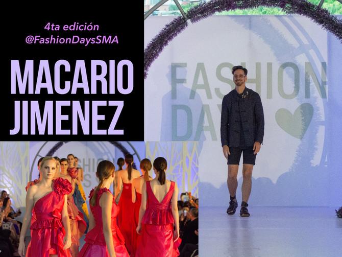 El diseñador tapatío Macario Jiménez cerró con broche de Oro la 4ta edición de Fashion Days San Migu