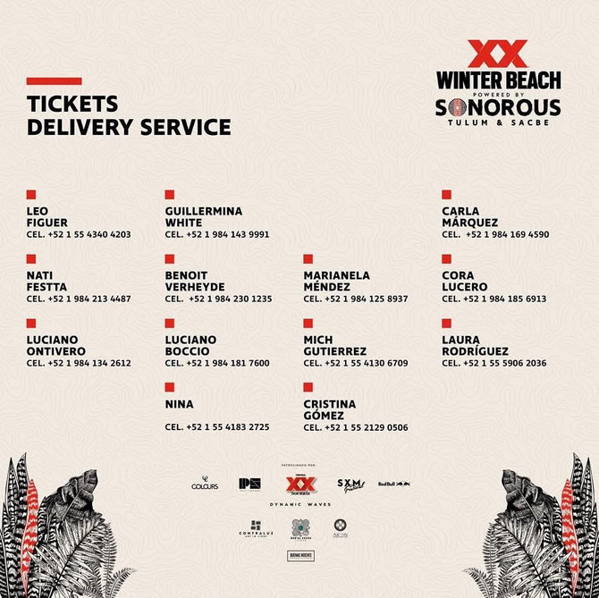 XX WINTER BEACH SONOROUS 29/Dic/2018