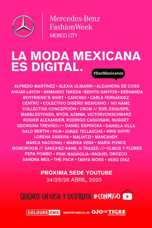 LA MODA MEXICANA ES DIGITAL.          La nueva sede de Mercedes-Benz Fashion Week Mexico City es You