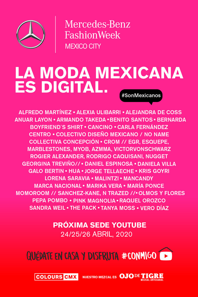 LA MODA MEXICANA ES DIGITAL.          La nueva sede de Mercedes-Benz Fashion Week Mexico City es You