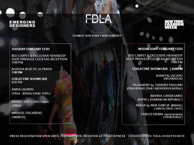 FASHION DESIGNERS OF LATIN AMERICA FW 2019. DURING NYFW (FDLA)