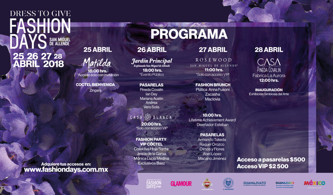 Programa Oficial 4ta. Edicion The Dress to Give Fashion Days