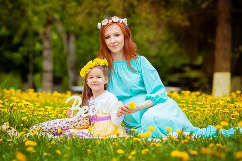 Мама и доча, беременность