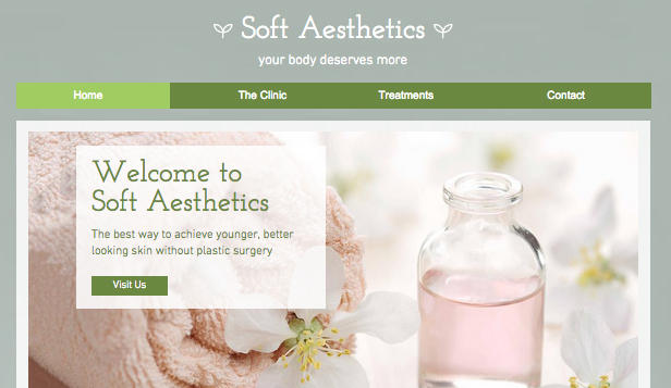 Wellness website templates –  Spa Clinic