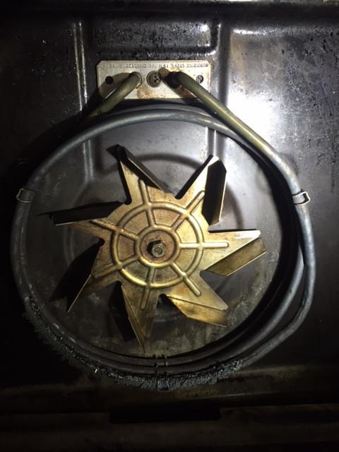 Blown fan forced oven element
