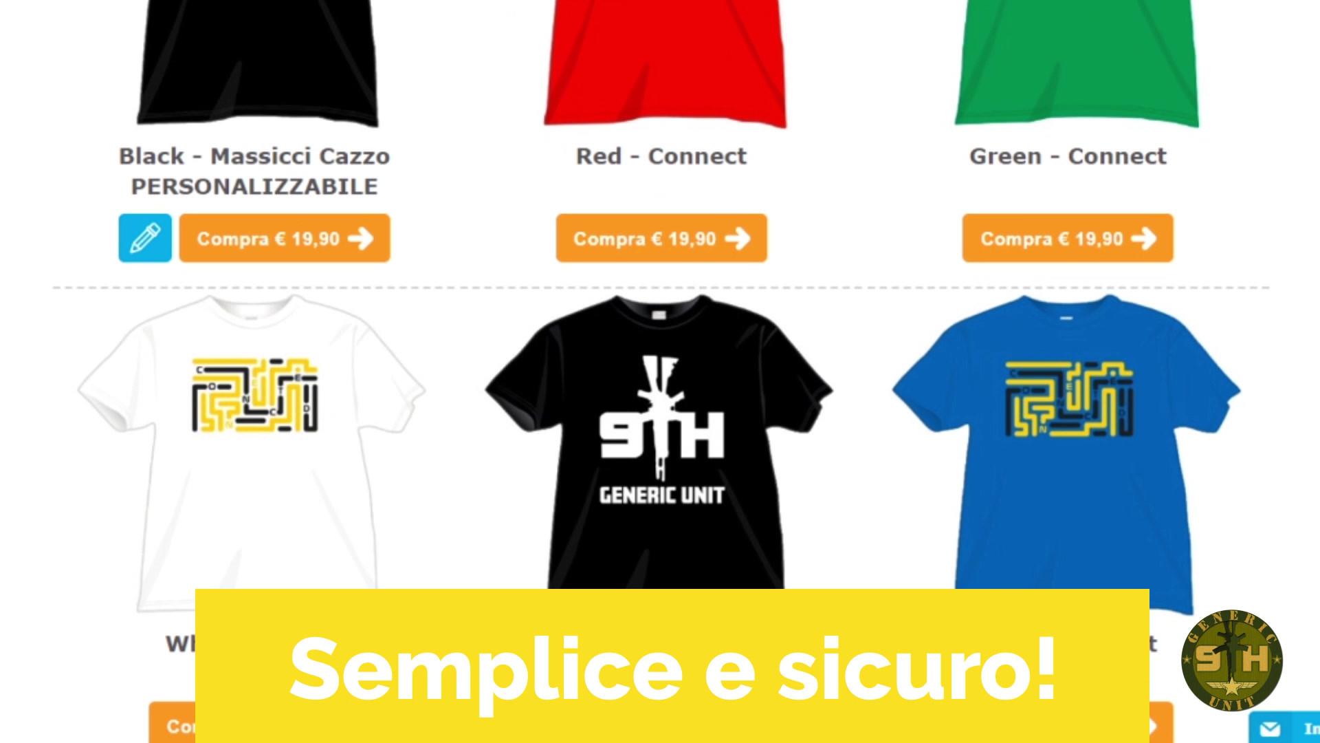 Spot per le magliette di 9thGenericUnit