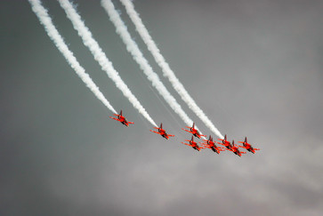 The Red Arrows in formation