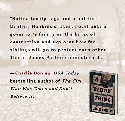 """Charlie Donlea says A Blood Thing is James Patterson on steriods."""