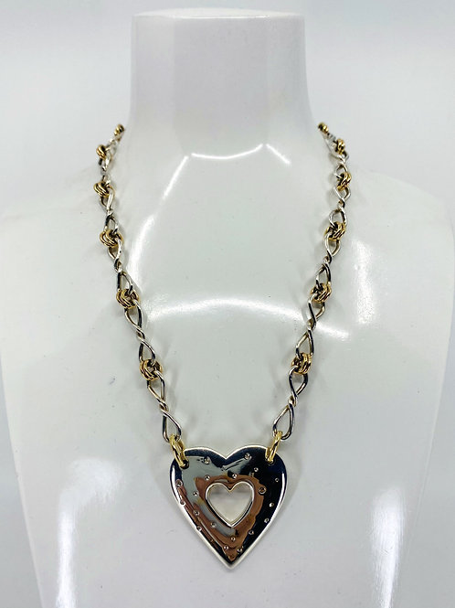 ref-KAJMN 15   Silver Heart necklace