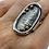 Thumbnail: ref KAJMR 97  Textured oval ring