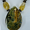 Thumbnail: Rainforest Rhyolite,Iolite, smoket quartz bead necklace