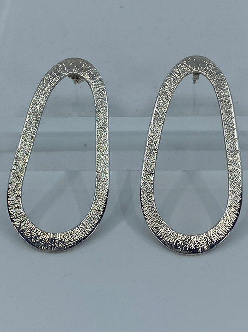 KAJME 27  Hammered sterling silver earrings