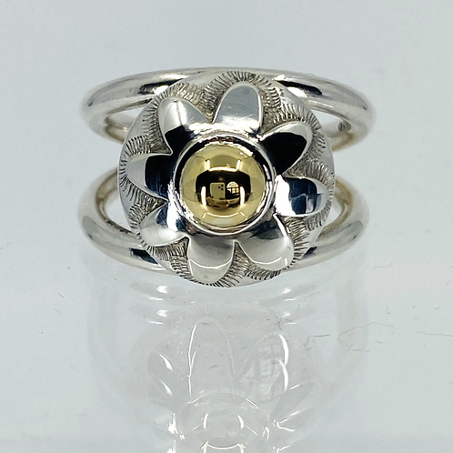 ref-18   Double band flower ring