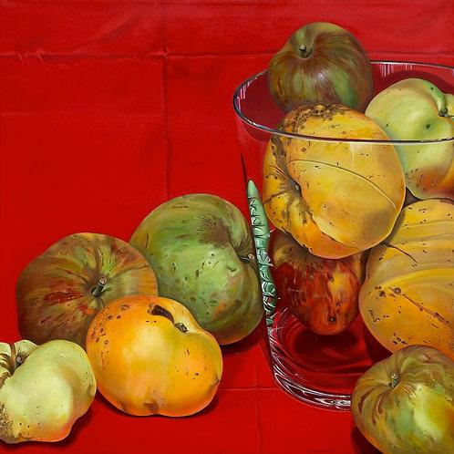 Apples  - oil on linen.
