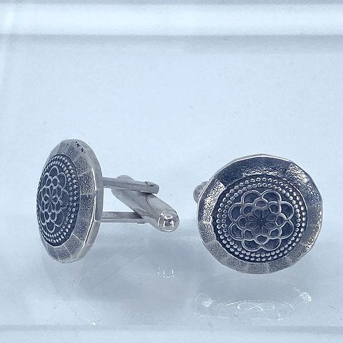 KAJMC3  recycled sterling silver cufflinks